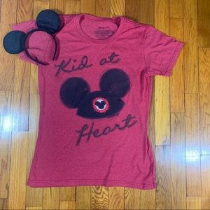 Kid At Heart Disney Mickey Ears Disney Store Tee